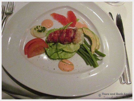 "Lobster Salad at Dinner on the MS Eurodam at ""An Evening at Le Cirque"""