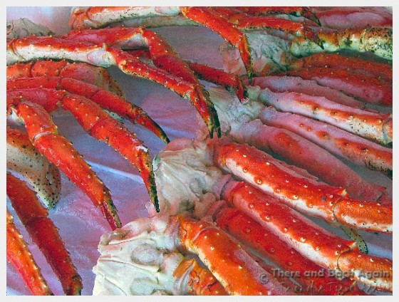 Images from the market in Bergen, Norway. Crab legs.