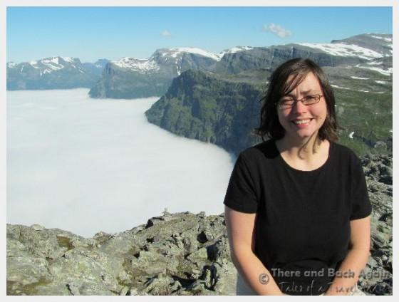 Shanna at the top of Mount Dalsnibba Geiranger Norway