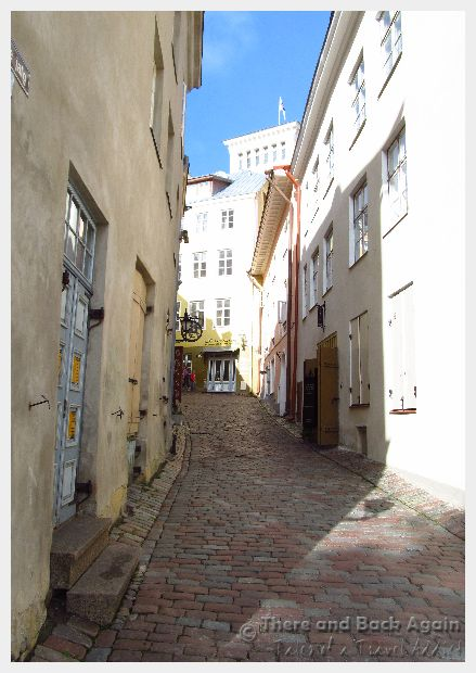 Narrow street in Tallinn Estonia