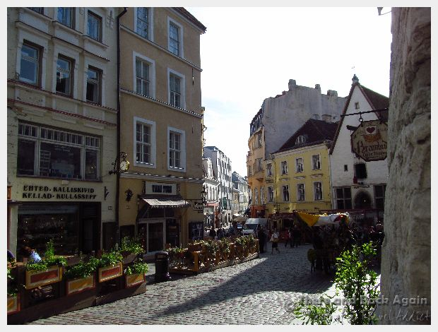 Shops and restaurants in Tallinn Estonia