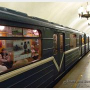 Inside of the subway station in St. Peterburg Russia