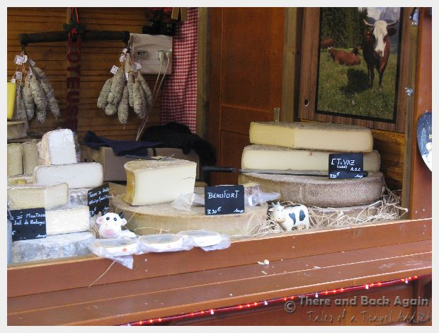 A Cheese shop in the market in Nice France