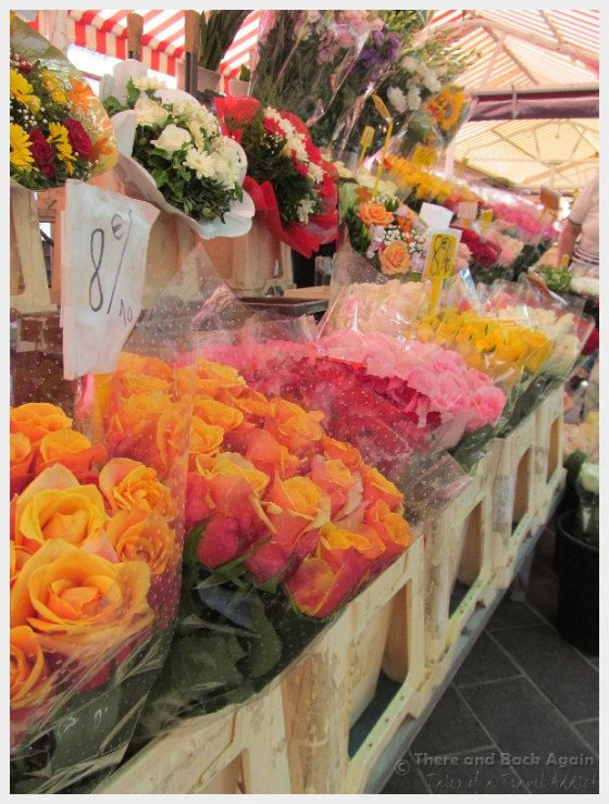 The Cours Saleya Flower Market in Nice France