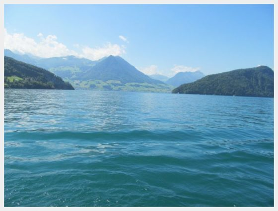 Switzerland Lucerne to Mount Rigi by boat lake lucerne