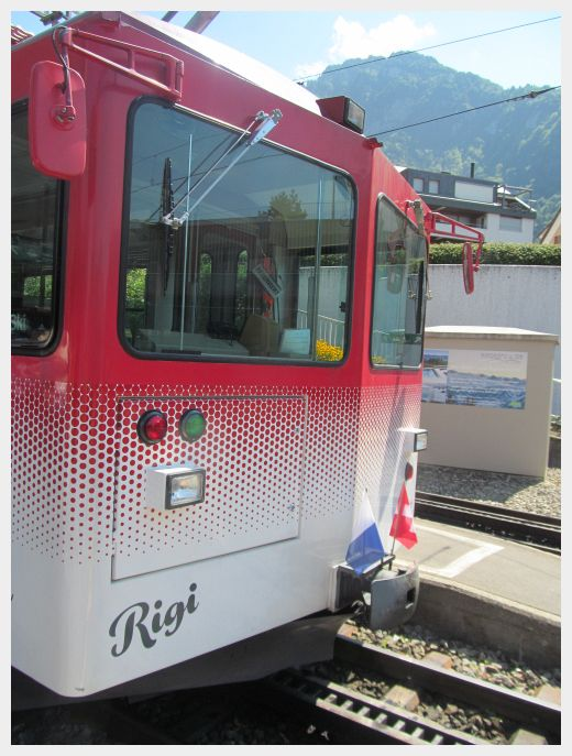 Switzerland Lucerne to Mount Rigi by boat train