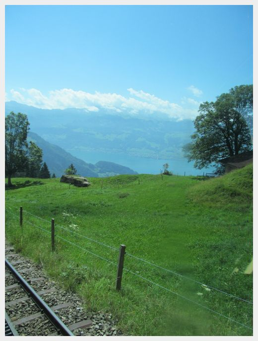 Switzerland Lucerne to Mount Rigi by boat train ride