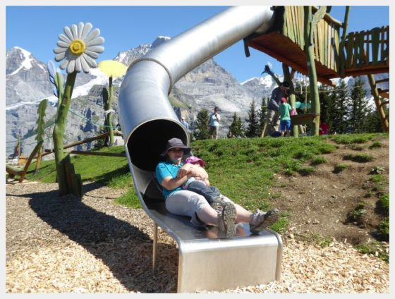 Almendhubel Flower Playground - best mountain views in Switzerland