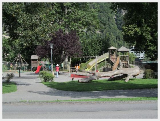 The playground across from the best hostel in Interlaken