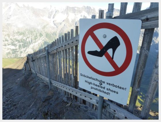 Schilthorn hiking sign-best mountain views in Switzerland