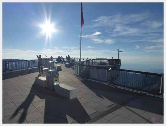 Schilthorn viewing platform - best mountain views in Switzerland